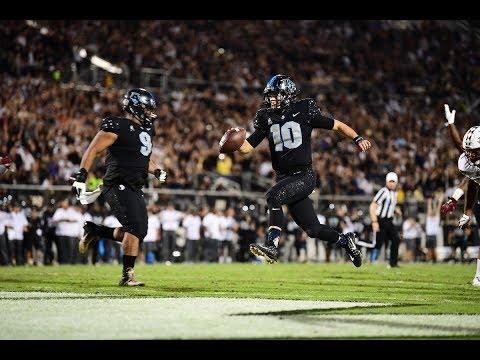 2018 American Football Highlights - #12 UCF 52, Temple 40