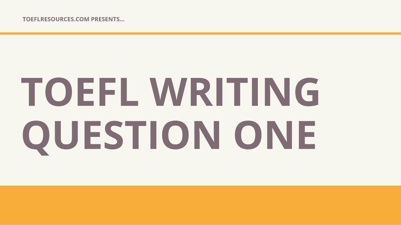 TOEFL Integrated Essay - TOEFL Resources