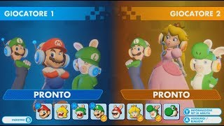 Mario + Rabbids Kingdom Battle (Switch) First 15 minutes in Versus Mode - First Look - Gameplay ITA