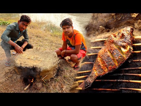 Primitive Technology- Catch & Cooking Big Fish In Clay Oven   Eating Delicious