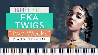 How to Play FKA Twigs - Two Weeks | Theory Notes Piano Tutorial