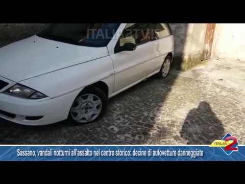 Sassano, vandali notturni all'assalto nel centro storico: decine di autovetture danneggiate