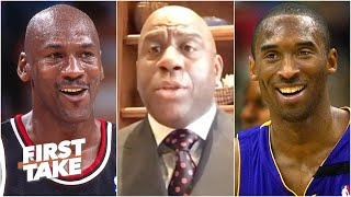 Magic Johnson explains why Kobe Bryant is the closest comparison to Michael Jordan | First Take