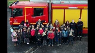 Les enfants de Récré'anime visitent de la caserne des pompiers de Tourcoing