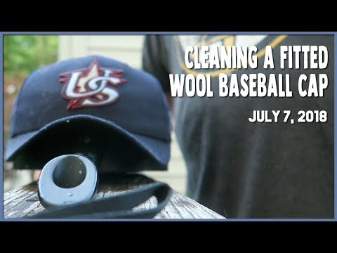 How to Clean a Fitted Wool Baseball Cap (7.7.18) #1148
