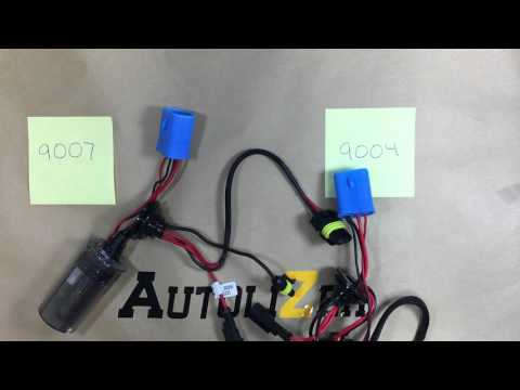 How to convert a 9007 harness to a 9004 harness - YouTube  Wiring Diagram For A Lamp on