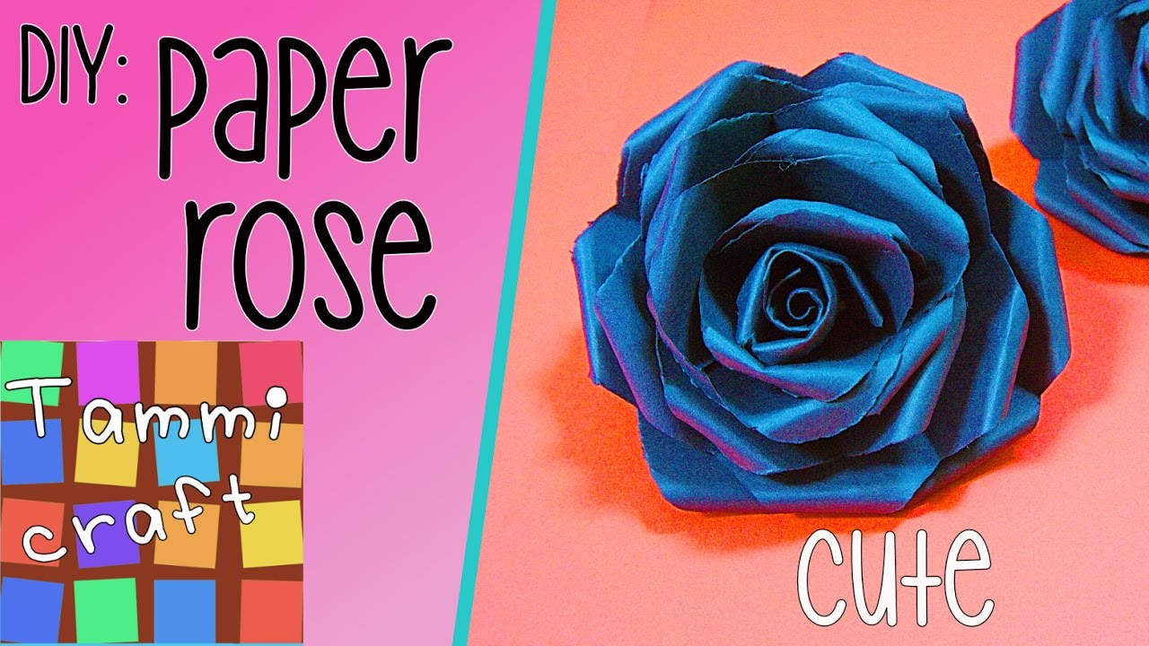 Diy How To Make A Black Paper Rose Tutorial Tammi Craft Youtube