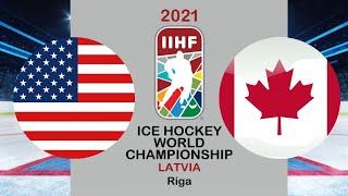 Хоккей США Канада Чемпионат мира по хоккею 2021 в Риге период 1