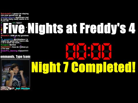Five Nights at Freddy's 4 - Night 7 Completed!