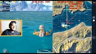 Rarest circle in PUBG mobile ends in water😂😱