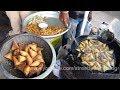 Indian Street Foods in Guntur | How to Make Samosa Recipe | Onion Samosa | Best Indian Street Food