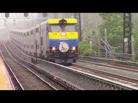 LIRR: Misty Friday Rush Hour at Valley Stream Ft. Cannonball #2798