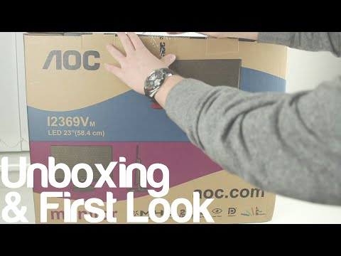 AOC I2369VM 23 inch IPS Monitor Unboxing & First Look