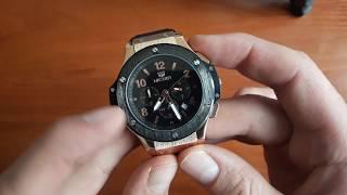 Обзор и настройка. Мужские часы Megir 3002 Vip Style с хронографом. Магазин Lekos