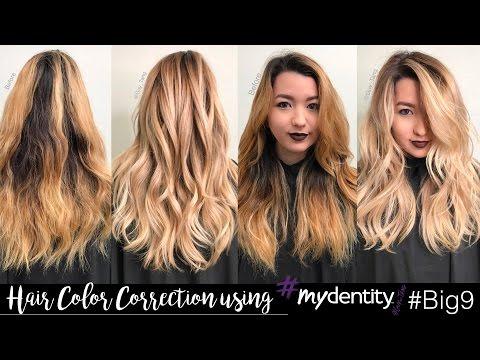 Hair Color Correction using #Mydentity #Big9