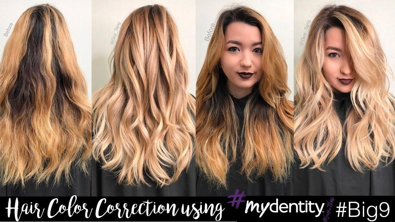 Hair Color Correction Using Mydentity Big9 Youtube
