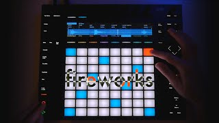 "Ableton Push 2: Live Performance: ""Fireworks"", as Neon Type (first look Push 2)"