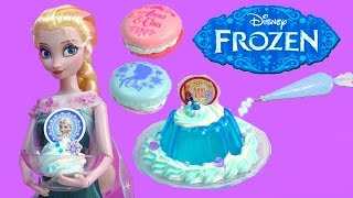 Queen Elsa Disney Frozen Whipple Jello Ice Cream 2 Macarons Princess Anna Birthday Craft Unboxing