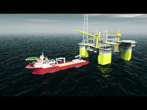 Lift off from supply vessel and onto offshore rig using Cranemaster shock absorber