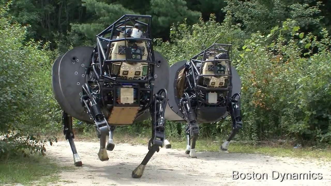 画像: ラバ型ロボットLS3がすごく怖いぞ!アメリカ海兵隊四足歩行ロボット youtu.be