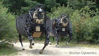 アメリカ海兵隊の基地でラバ型の四足歩行ロボットを公開した。 最大180k...