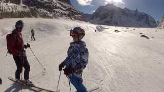Aiguille du Midi Chamonix Vallée blanche ski offpiste with GoPro HD cam