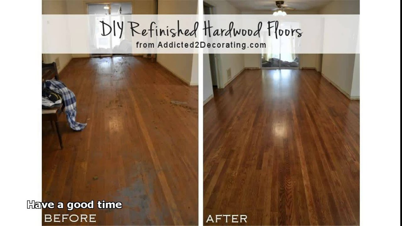 how to stain hardwood floors without sanding