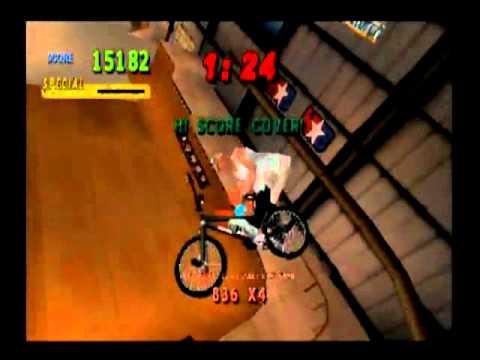 Mat Hoffman's Pro BMX - Hoffman Bike Factory Level (All Goals in One Run)