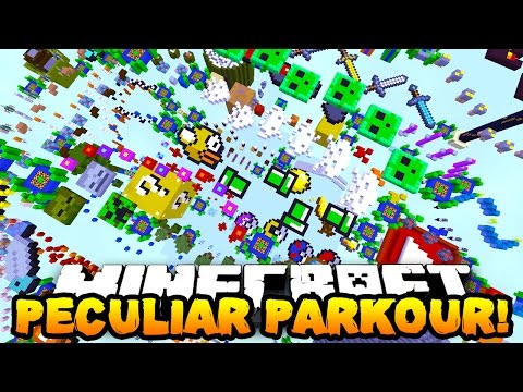 Minecraft PECULIAR PARKOUR! (New Jumps & Funny Moments!) w/PrestonPlayz & PeteZahHutt