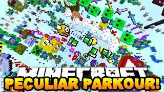 Minecraft PECULIAR PARKOUR! (New Jumps & Funny Moments!) w/PrestonPlayz & PeteZahHutt