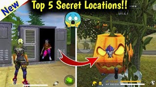 Top 5 Secret Locations You Don't Know🔥😱//Free Fire Best Hiding Places.