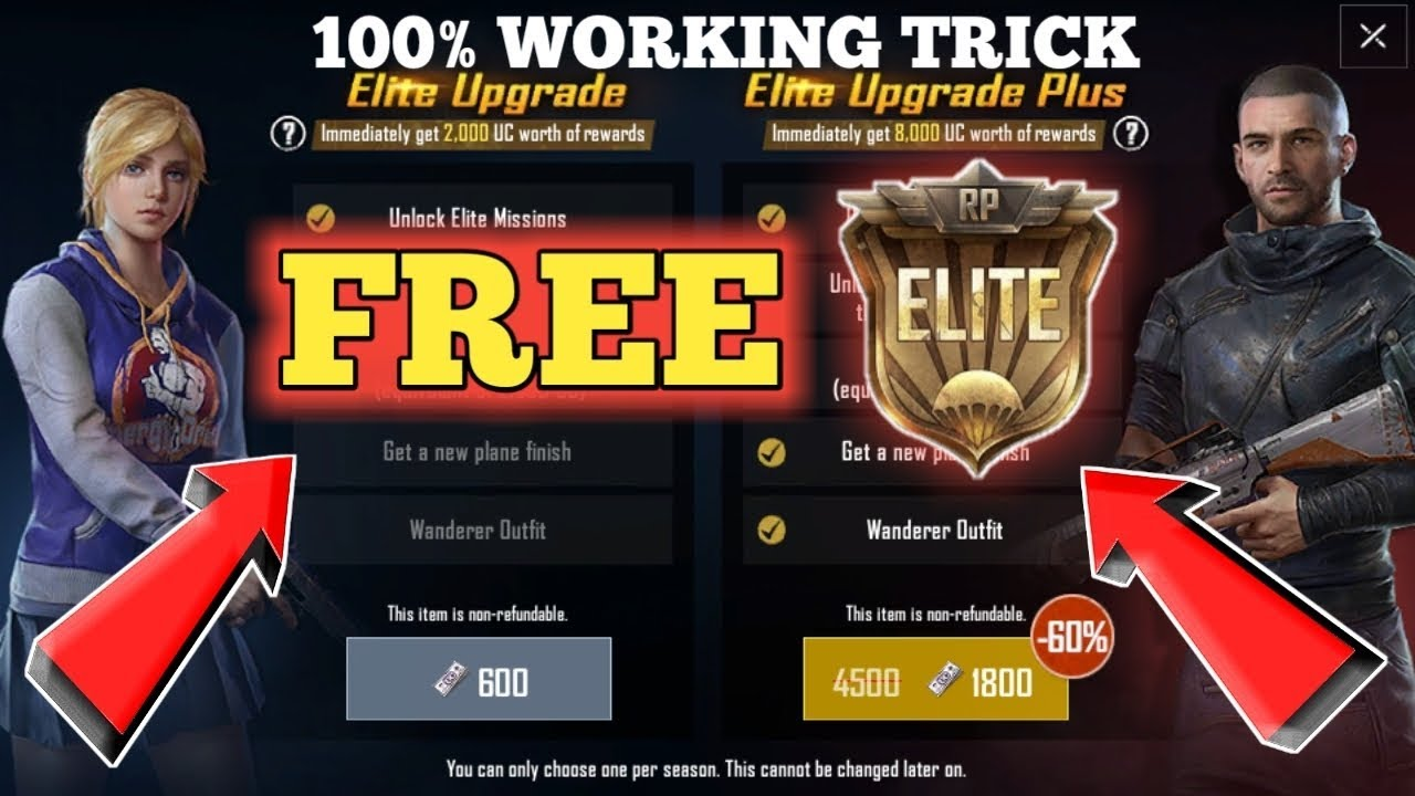 [SECRET TRICK] How To Get Free Elite Royal Pass In PUBG Mobile [NO HACK]