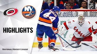 NHL Highlights | Hurricanes @ Islanders 03/07/2020