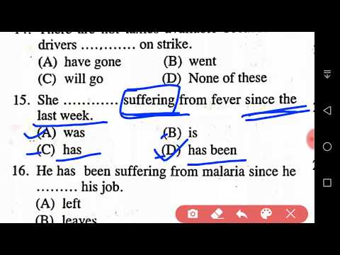 Objective Grammar Tense Exercise Part - 1