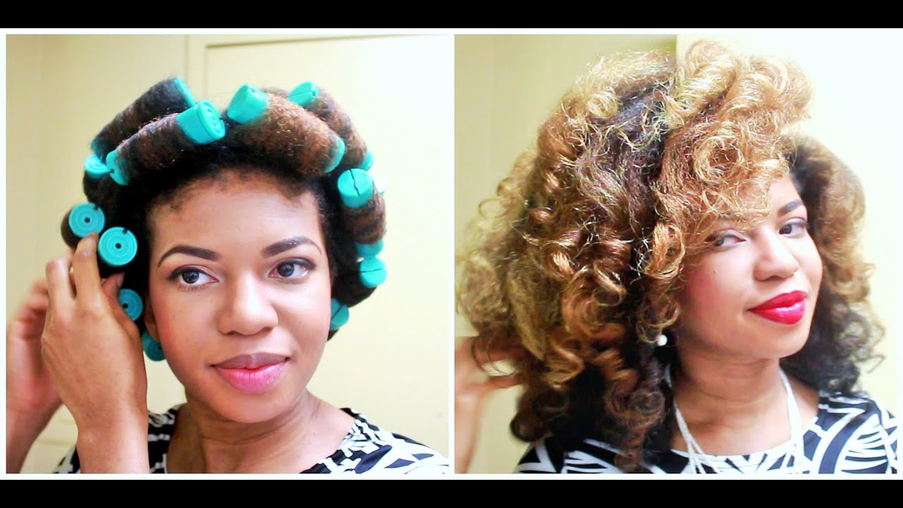 Jumbo Perm Rod Set on Natural Hair (Big Voluminous Curls