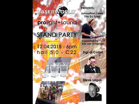 LASERWORLD AT PRO LIGHT AND SOUND FRANKFURT HALL 5 C22 PARTY 12/4/18