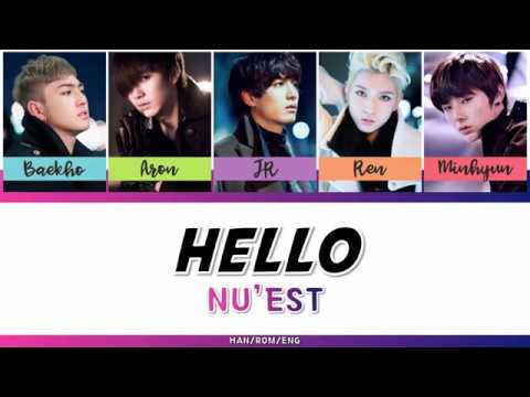 NU'EST (뉴이스트) - HELLO [HAN/ROM/ENG - COLOR CODED LYRIC]