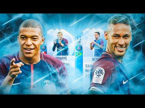 INCREIBLE PLANTILLA CON NEYMAR Y MBAPPE DE LA CHAMPIONS!!!   FIFA 18