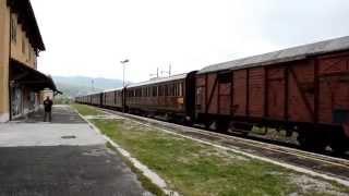Treno storico di F.S. a Palena - 17 maggio 2014 - Arrivo a sera..