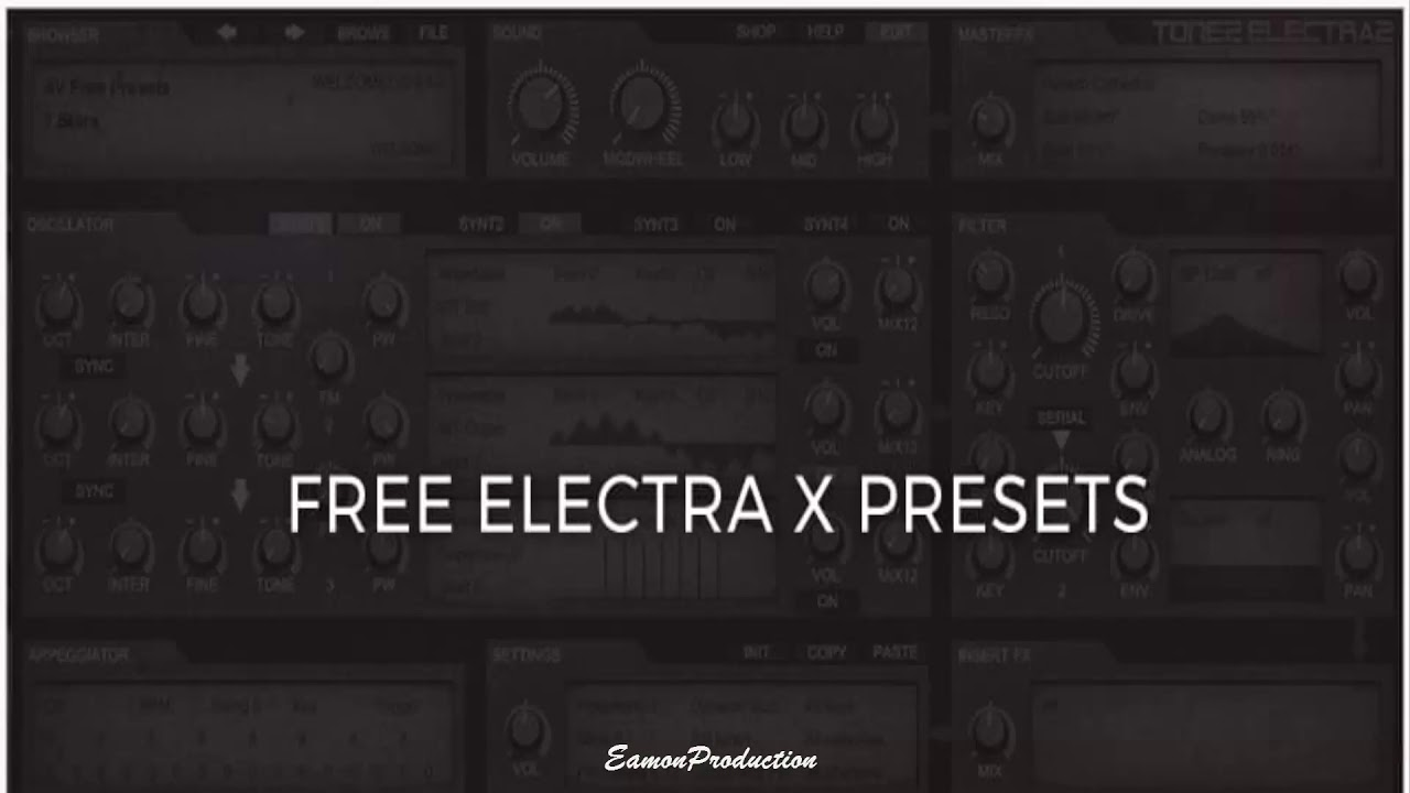 100 ElectraX Presets Bank - Gaming Sounds, Lil Uzi Vert, Juice WRLD Type  Prests [Free Download]