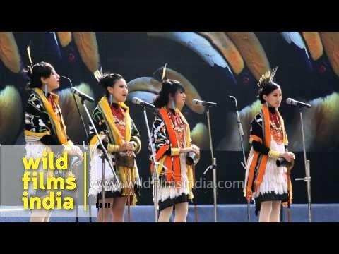 Tetseo Sisters singing Naga folk song at Hornbill festival 2013
