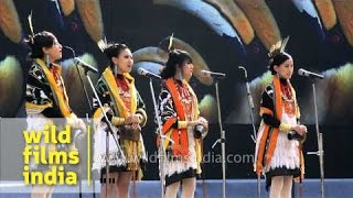 Tetseo Sisters singing Naga folk song at Hornbill festival 2013