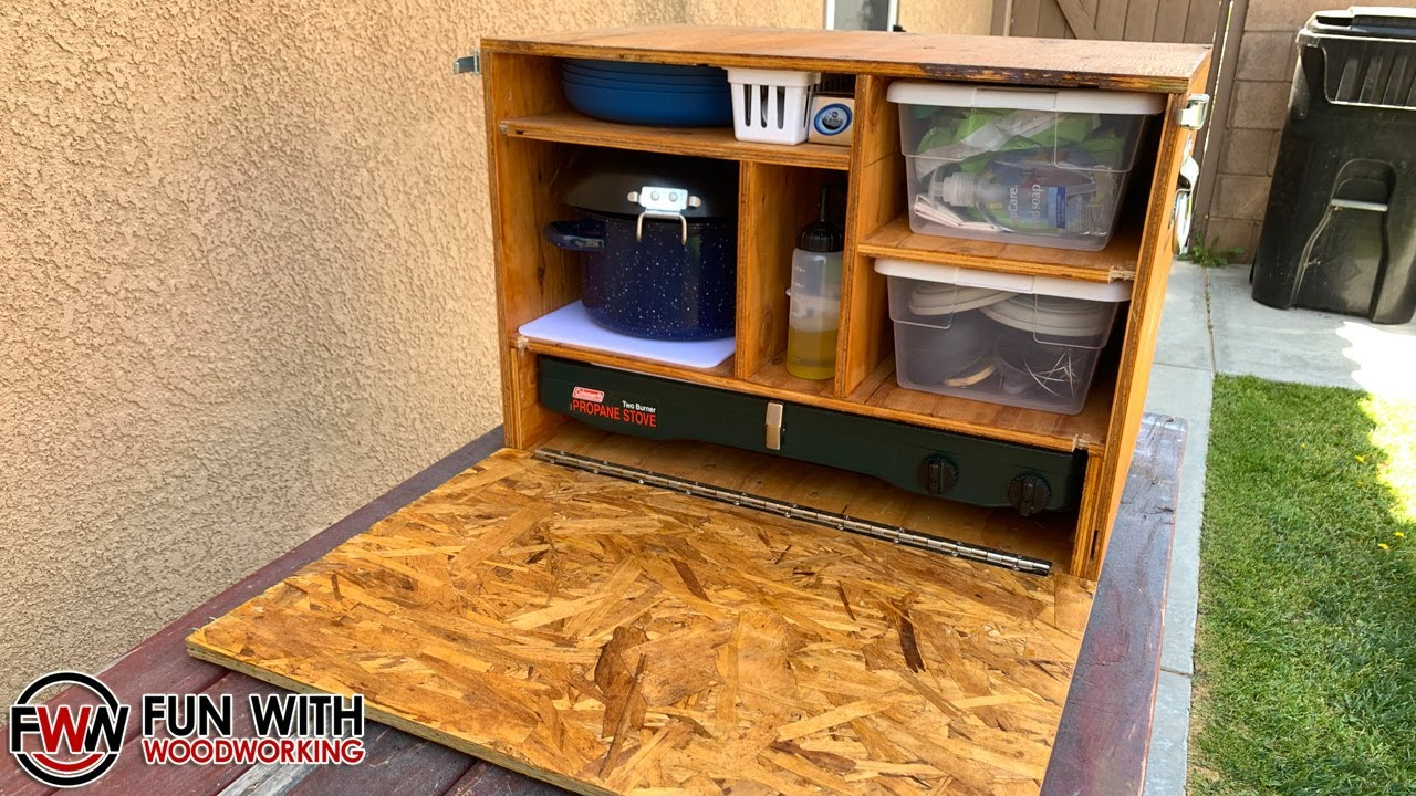 How To Build A Compact Patrol Box Camp Kitchen Chuck Box Youtube