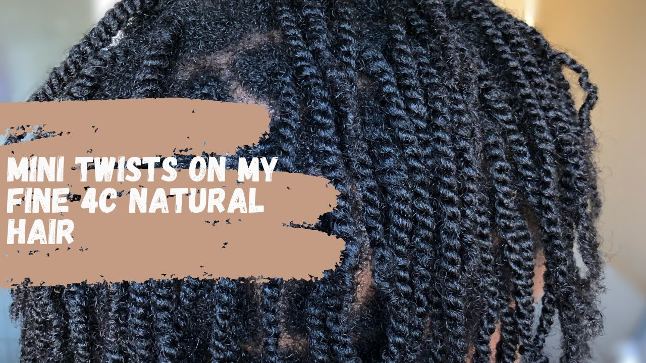 MINI TWISTS ON FINE 4C NATURAL HAIR