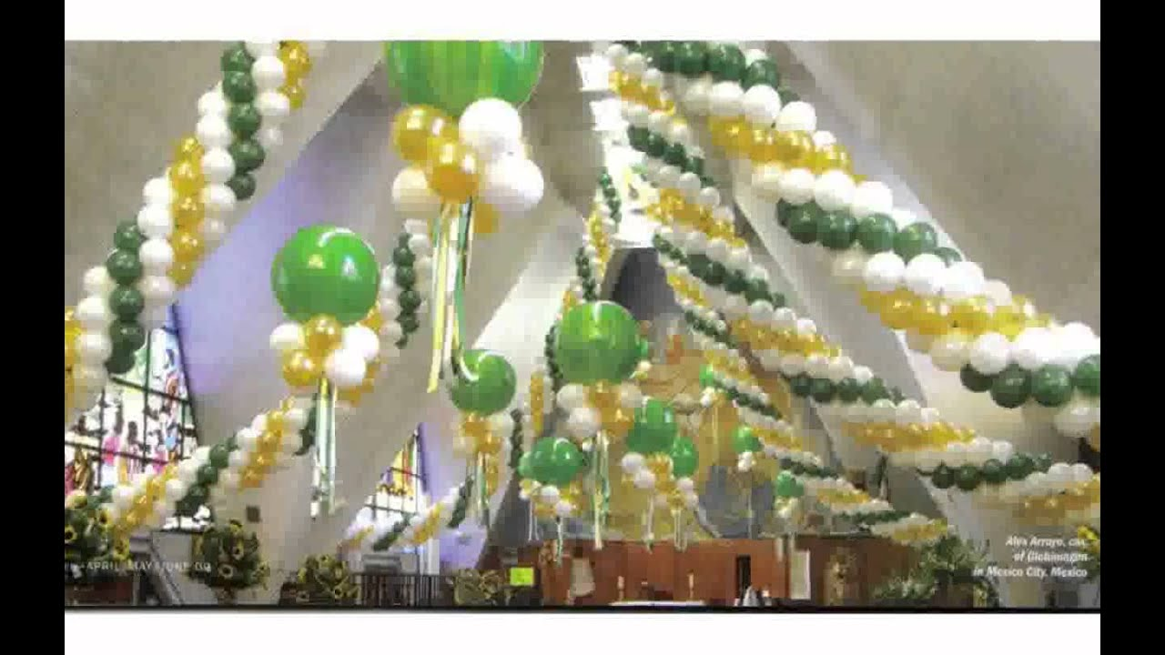 Balloon decor ideas youtube for Balloon decoration designs