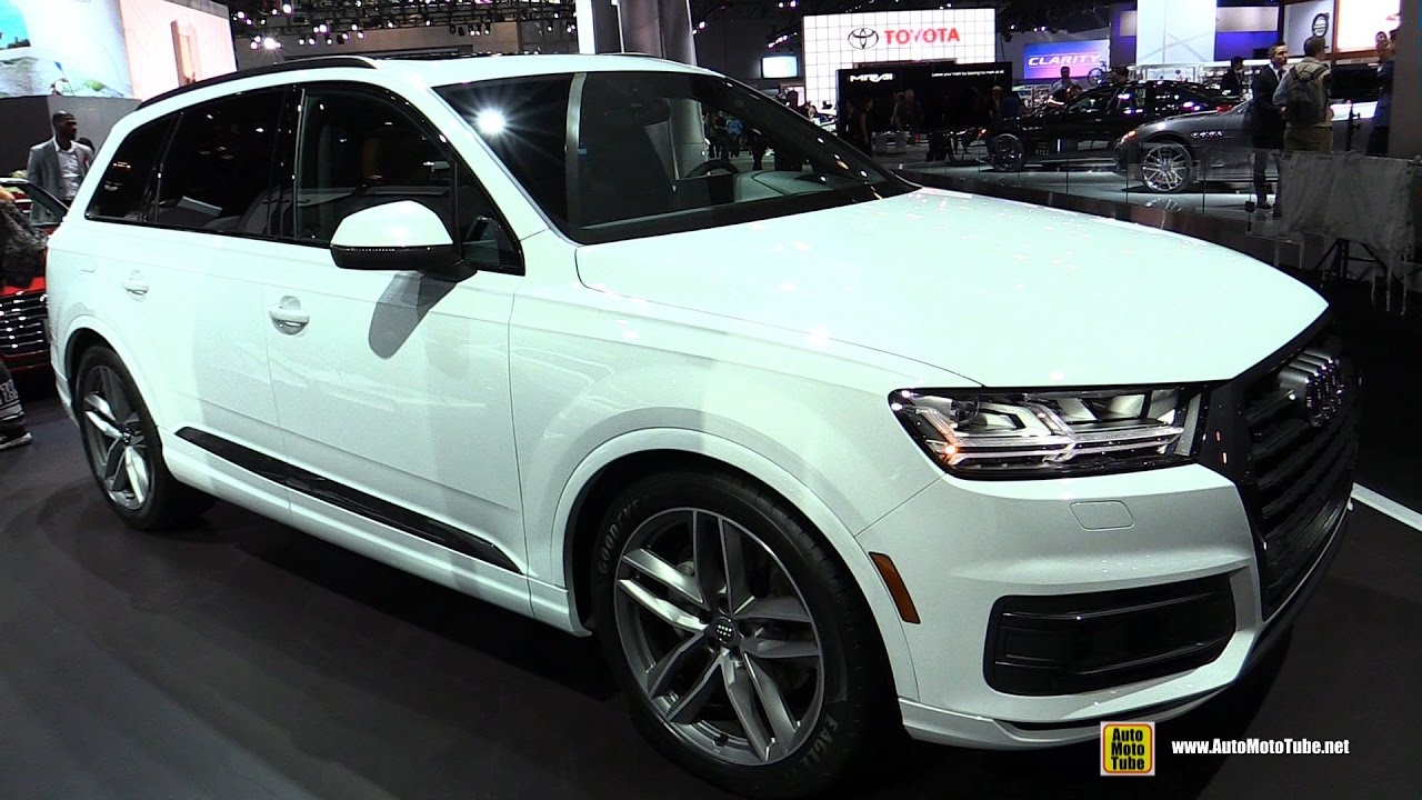 Audi Sq5 2018 Black >> 2017 Audi Q7 3.0T Quattro - Exterior and Interior Walkaround - 2017 New York Auto Show - YouTube