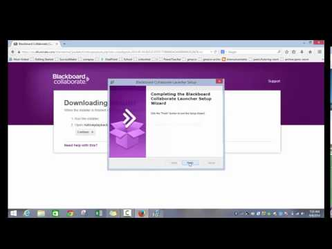 ACVS How to Download Blackboard Collaborate Launcher (Elluminate)1