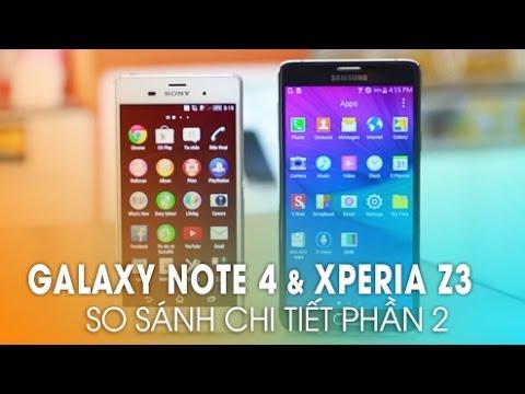 Galaxy Note 4 và Sony Xperia Z3: So sánh hiệu năng, màn hình (Phần 2)