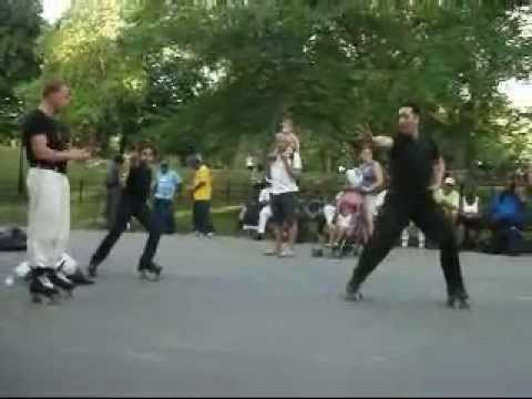 Joey Pagan & Gaser Shafey NYC Central Park Dance Skaters Rollerskating