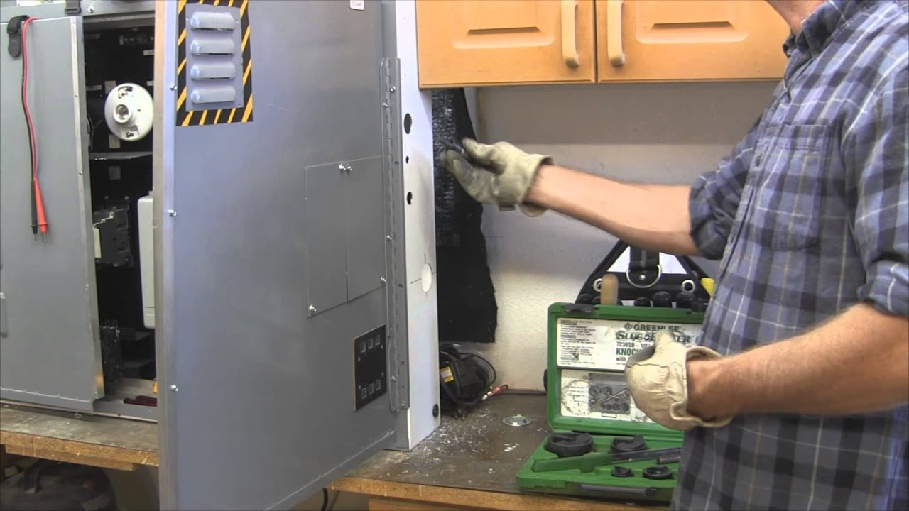 Electrical Wiring How To Cut Holes In Metal Pt 2 Youtube Distribution Enclosure Box Waterproof Circuit Breaker